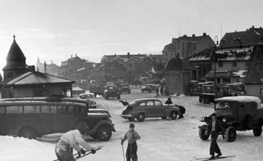 Lækjargata 1944, séð að norðan